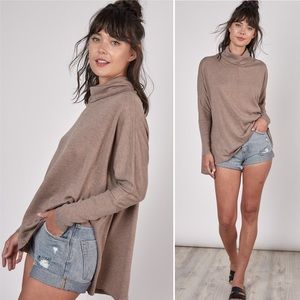Maxwell Mocha Knit Turtleneck Tunic Sweater